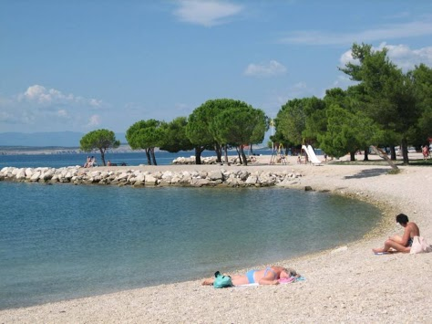 Sandy beach Crikvenica